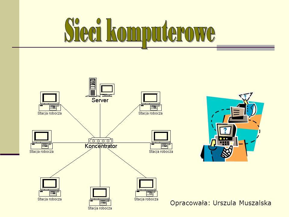 Sieć komputerowa - grupa komputerów lub innych urządzeń połączonych ze sobą w celu wymiany danych lub współdzielenia różnych zasobów, na przykład: korzystania ze wspólnych urządzeń, np.