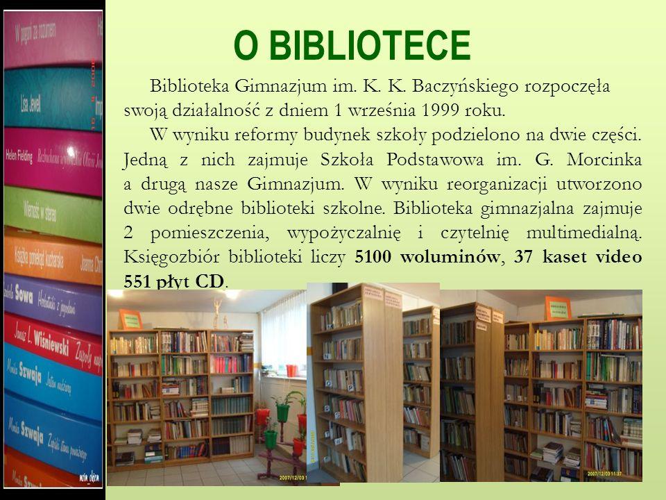 BIBLIOTEKA Gimnazjum K.K. Baczyńskiego w Poczesnej