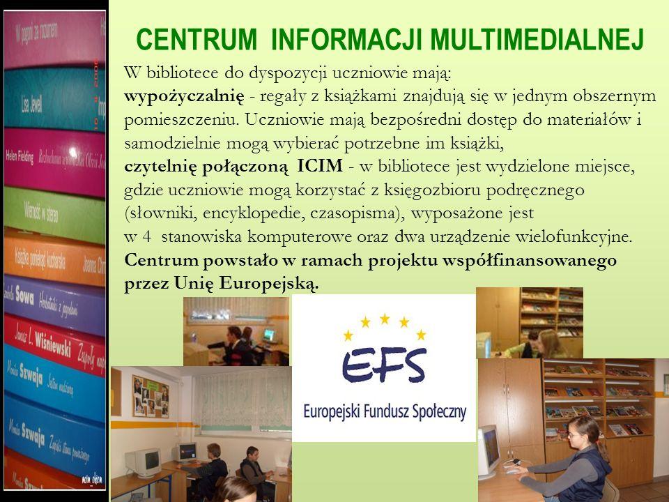 Biblioteka Gimnazjum im. K. K. Baczyńskiego rozpoczęła swoją działalność z dniem 1 września 1999 roku. W wyniku reformy budynek szkoły podzielono na d