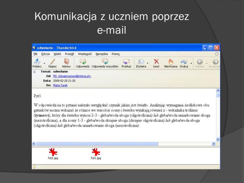 Komunikacja z uczniem poprzez e-mail