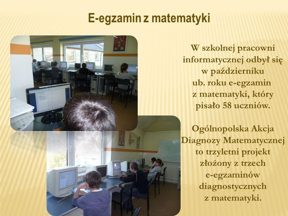 W szkolnej pracowni informatycznej odbył się w październiku ub.