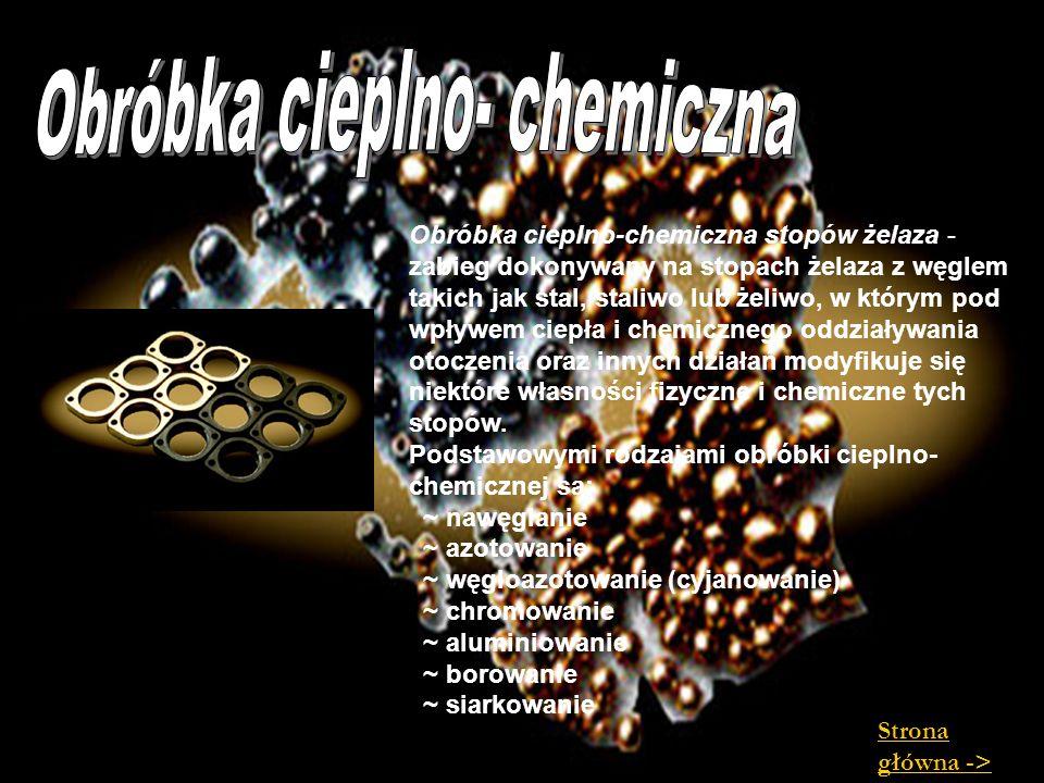 Obróbka cieplno-chemiczna stopów żelaza - zabieg dokonywany na stopach żelaza z węglem takich jak stal, staliwo lub żeliwo, w którym pod wpływem ciepł