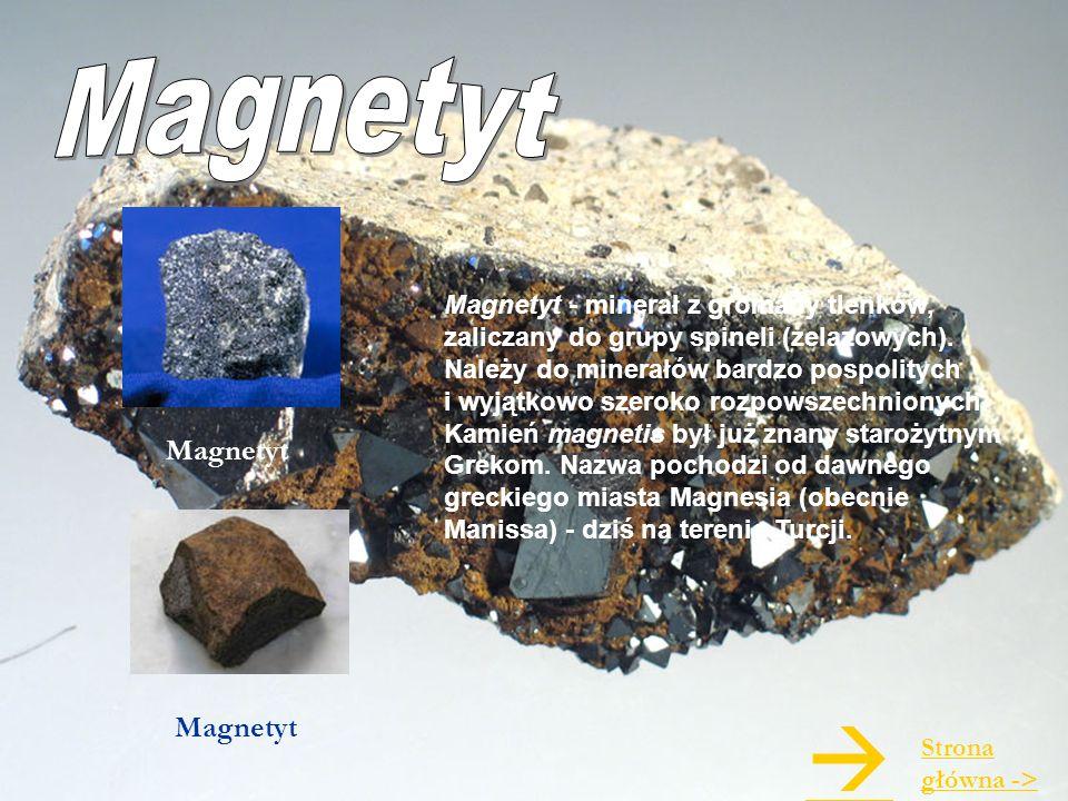 Magnetyt - minerał z gromady tlenków, zaliczany do grupy spineli (żelazowych). Należy do minerałów bardzo pospolitych i wyjątkowo szeroko rozpowszechn