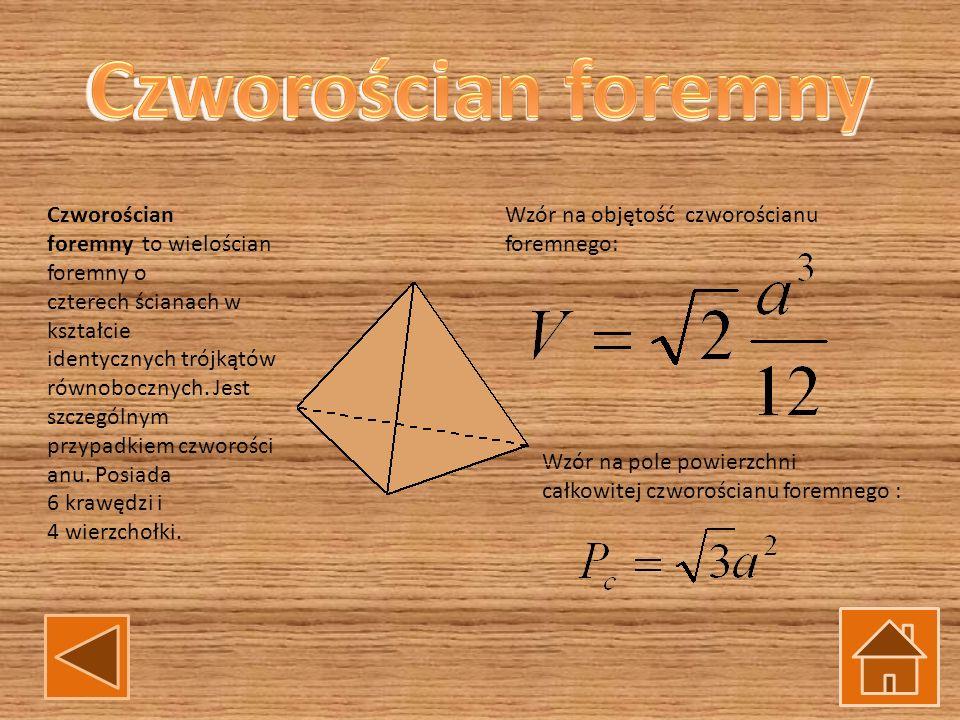 Czworościan foremny to wielościan foremny o czterech ścianach w kształcie identycznych trójkątów równobocznych. Jest szczególnym przypadkiem czworości