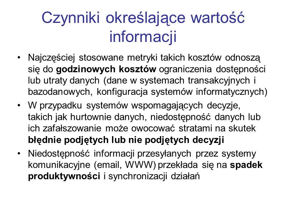 Archiwizacja Archiwizacja polega na przenoszeniu plików (migracji) na zewnętrzne nośniki informacji o dużej pojemności Archiwizowany plik jest usuwany z systemu, robiąc miejsce dla nowych danych Taśmy archiwalne są zapisywane jednorazowo Nie jest zalecana pełna archiwizacja (kopia wszystkich plików systemu), gdyż wymaga to dużo czasu, miejsca na nośniku Zazwyczaj archiwizowane są pliki, które zostały zmodyfikowane od ostatniej archiwizacji
