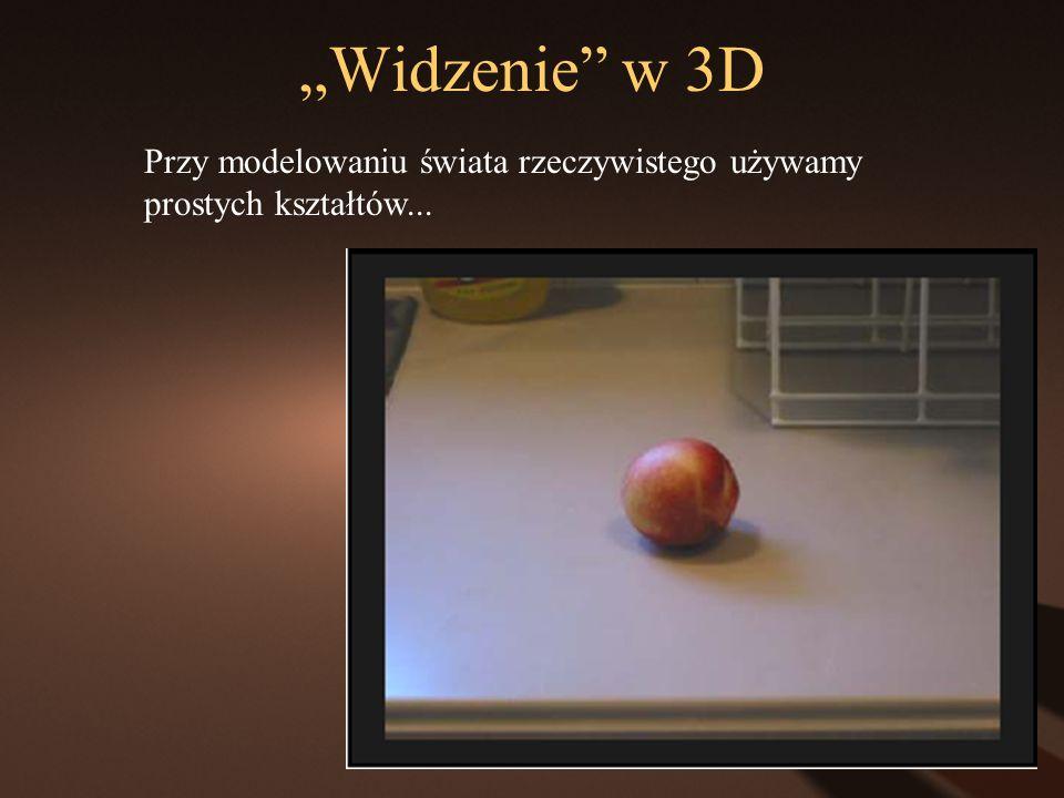 Widzenie w 3D Przy modelowaniu świata rzeczywistego używamy prostych kształtów...