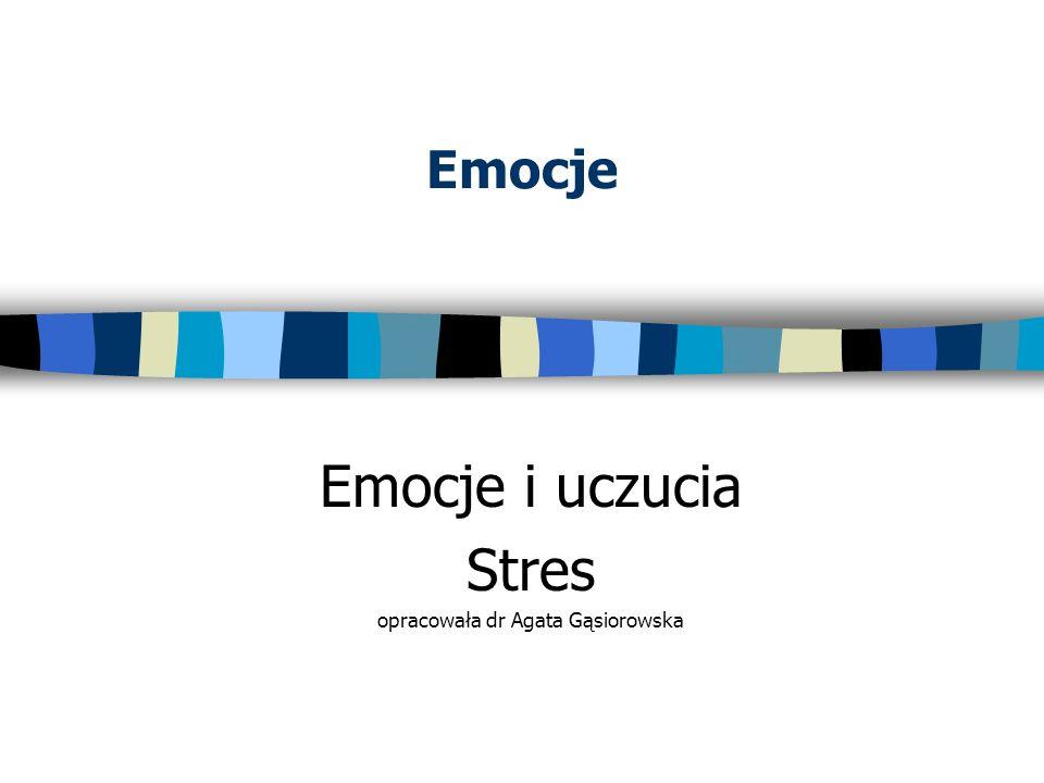 Emocje Emocje i uczucia Stres opracowała dr Agata Gąsiorowska