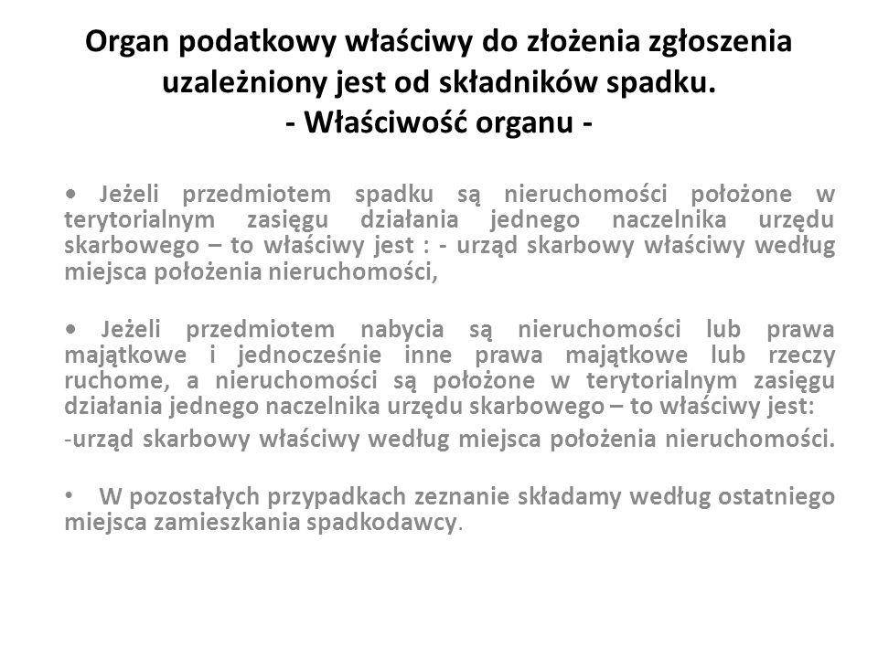 Przykład 1 Zmarły, ostatnio stale zamieszkały w Kielcach, pozostawił w spadku nieruchomość położoną w Kielcach.