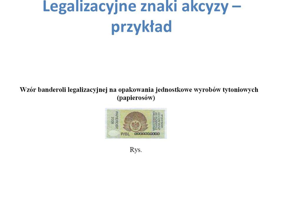 Legalizacyjne znaki akcyzy – przykład
