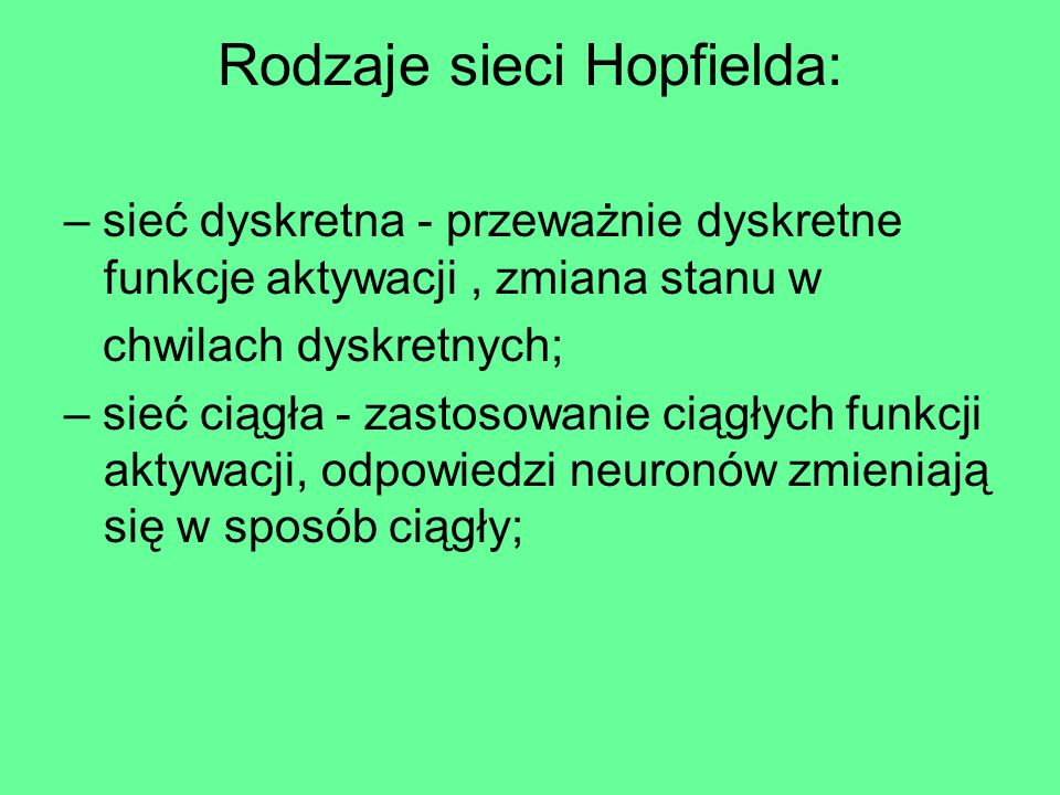 Schemat sieci Hopfielda