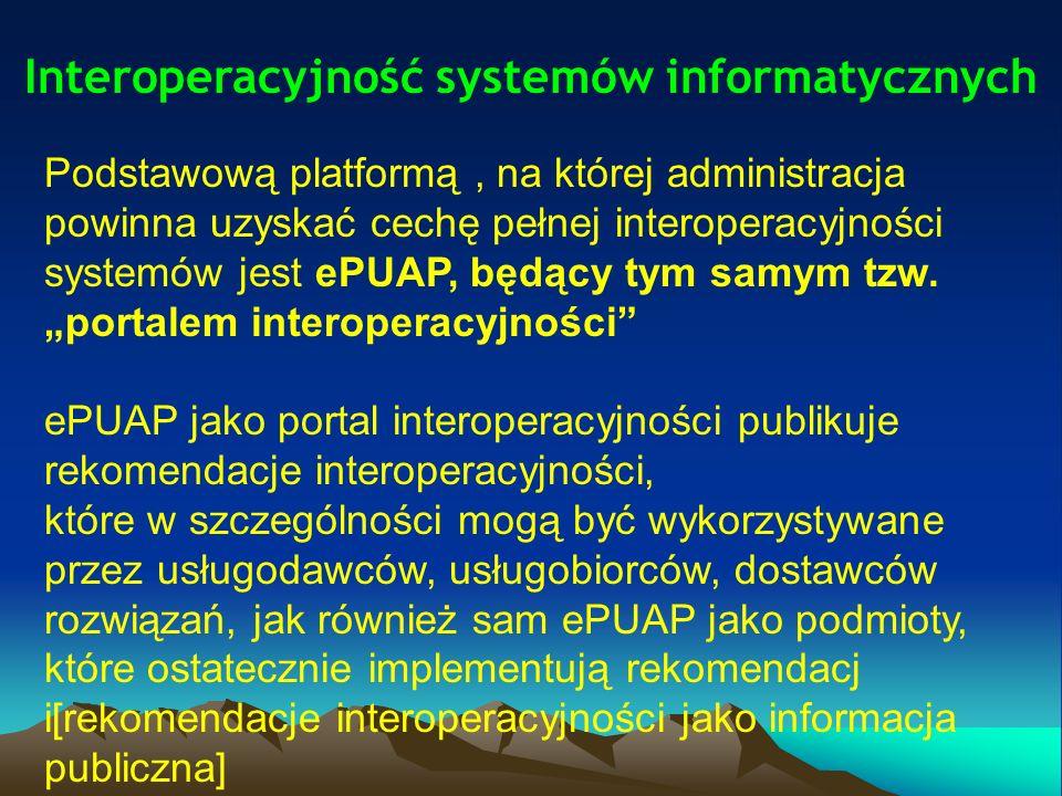 Sposoby osiągnięcia interoperacyjności systemów informatycznych administracji publicznej interoperacyjność systemów teleinformatycznych jest niemożliwa do osiągnięcia bez wymaganego poziomu spójności rejestrów publicznych oraz pozostałych zasobów informacyjnych z rejestrami publicznymi; należy w większym stopniu zapobiegać tworzeniu nowych identyfikatorów używanych do identyfikacji obiektów opisywanych w rejestrach publicznych.