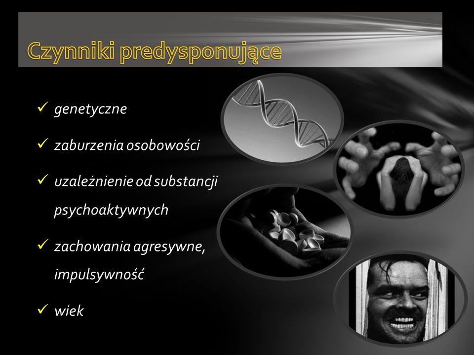 genetyczne zaburzenia osobowości uzależnienie od substancji psychoaktywnych zachowania agresywne, impulsywność wiek