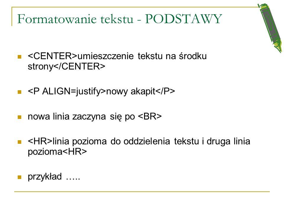 informacja, jakiego języka używa się na stronie informacja o autorze strony informacja o używanym edytorze (zwykle wstawiana przez producenta nakazani