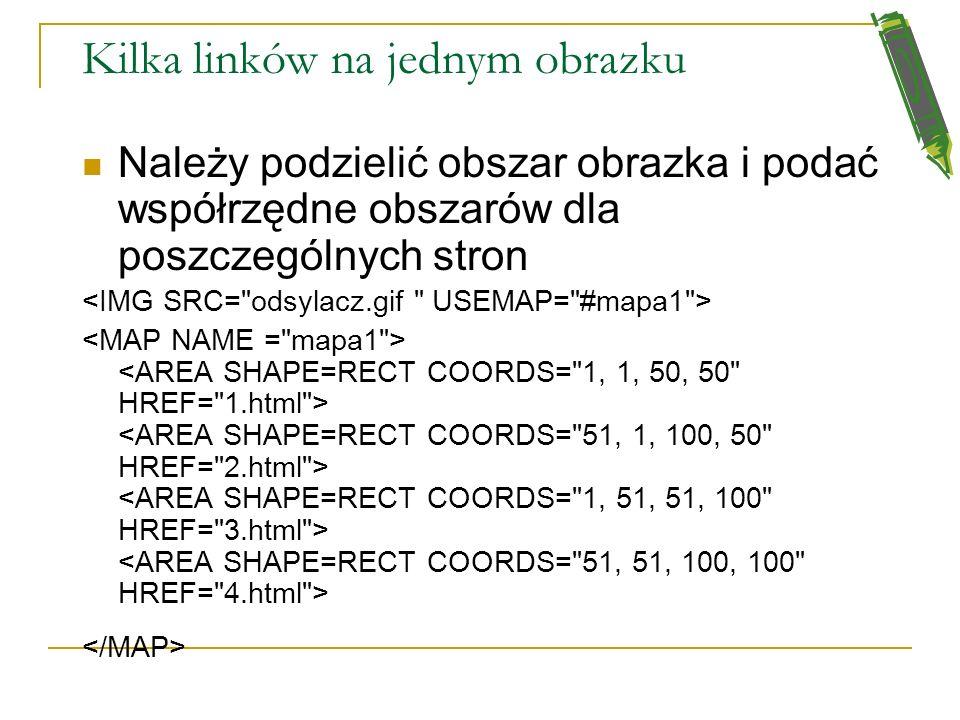 Link pod obrazkiem (banerem) Aby umieścić link pod banerem, lub pod obrazkiem, należy wpisać linię: