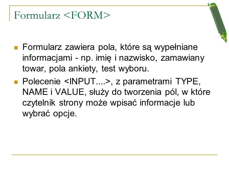 Ramki w okienkach Edytory HTML Tekst dla przeglądarki, która nie obsługuje takich ramek