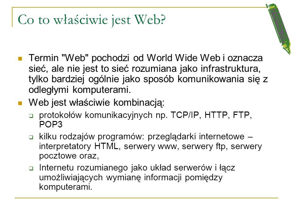 Po co te informacje w Internecie? Nauka i wymiana informacji naukowej Wiadomości i polityka Reklama i handel (strony firmowe, sklepy i giełdy internet