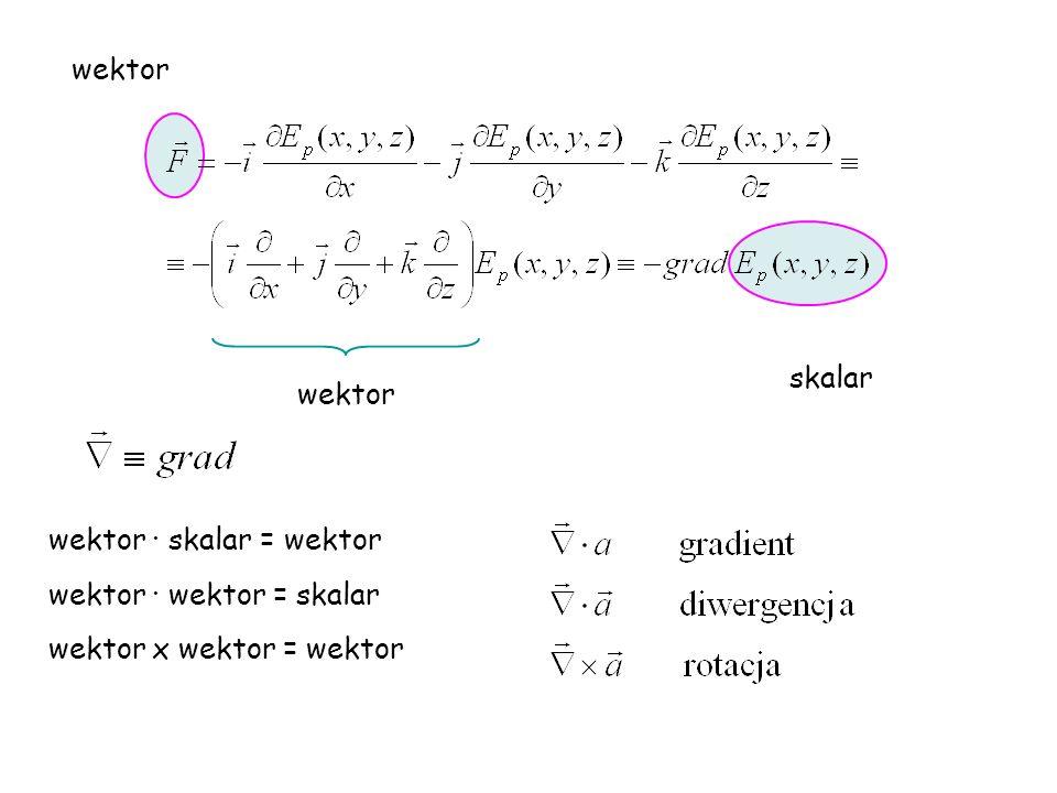 wektor skalar wektor wektor · skalar = wektor wektor · wektor = skalar wektor x wektor = wektor