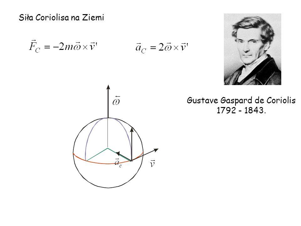 Siła Coriolisa na Ziemi Gustave Gaspard de Coriolis 1792 - 1843.