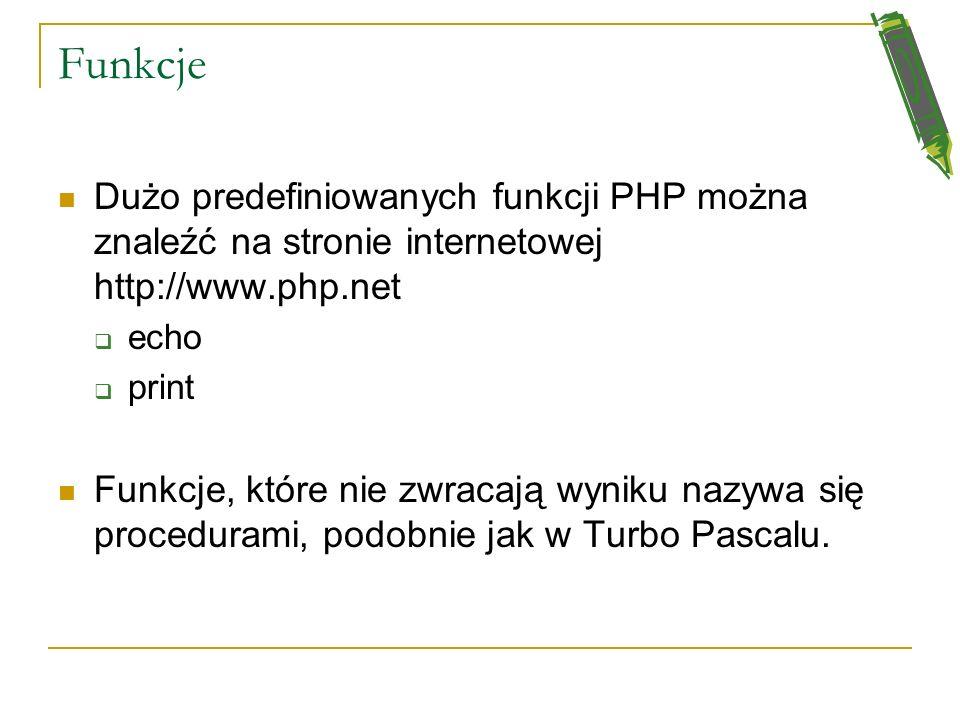 Odczytywanie wartości z formularza Wyniki Imię: Nazwisko: Faktura: Zamówienie: <?php switch($_GET['z amow']){ case