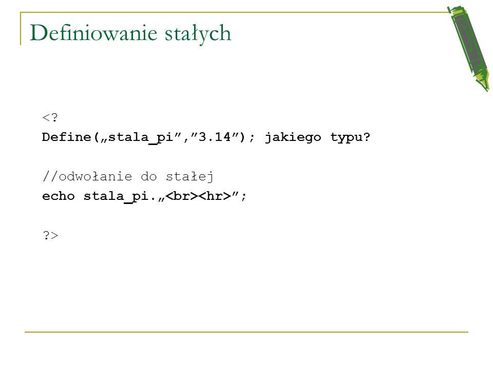 Po zakończeniu funkcji zmienna static nie traci wartości Jeżeli chce się, żeby zmienna nie traciła wartości po zakończeniu funkcji, to należy użyć pol