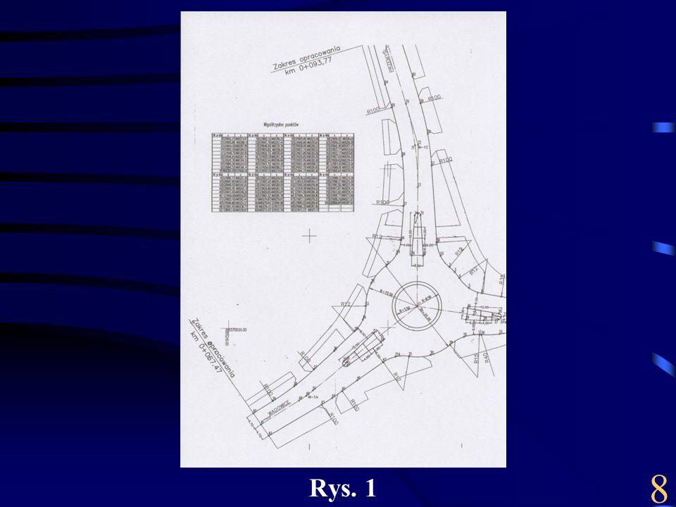 Na rysunku mamy przedstawioną pełną grafikę wraz ze współrzędnymi opisującymi jednoznacznie obiekty.