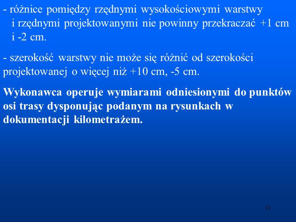 11 Kryteria oceny błędów Wstępna analiza błędów: Błąd w pomiarach długości, według producentów wynosi m d = (2 mm+2ppm*D) ÷ (5 mm+5ppm*D).