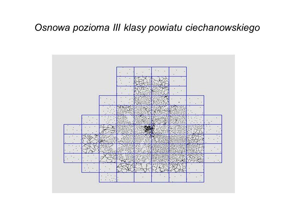 Osnowa pozioma III klasy powiatu ciechanowskiego