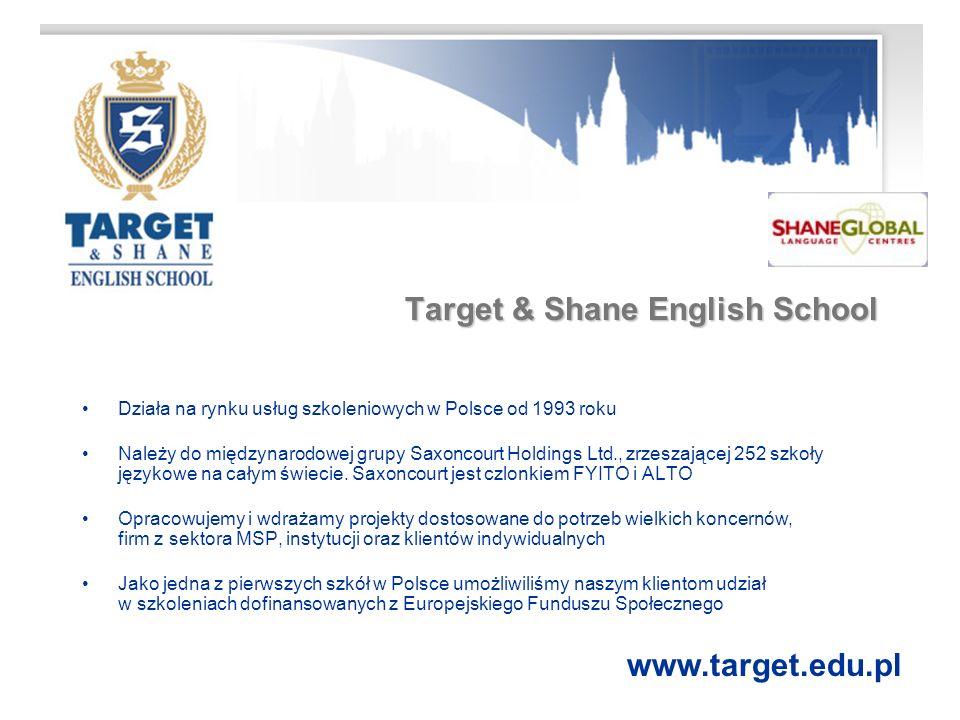 Język angielski Profesjonalne usługi dla firm www.target.edu.pl