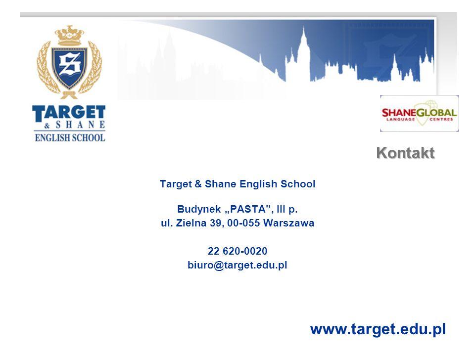 Kontakt Target & Shane English School Budynek PASTA, III p.