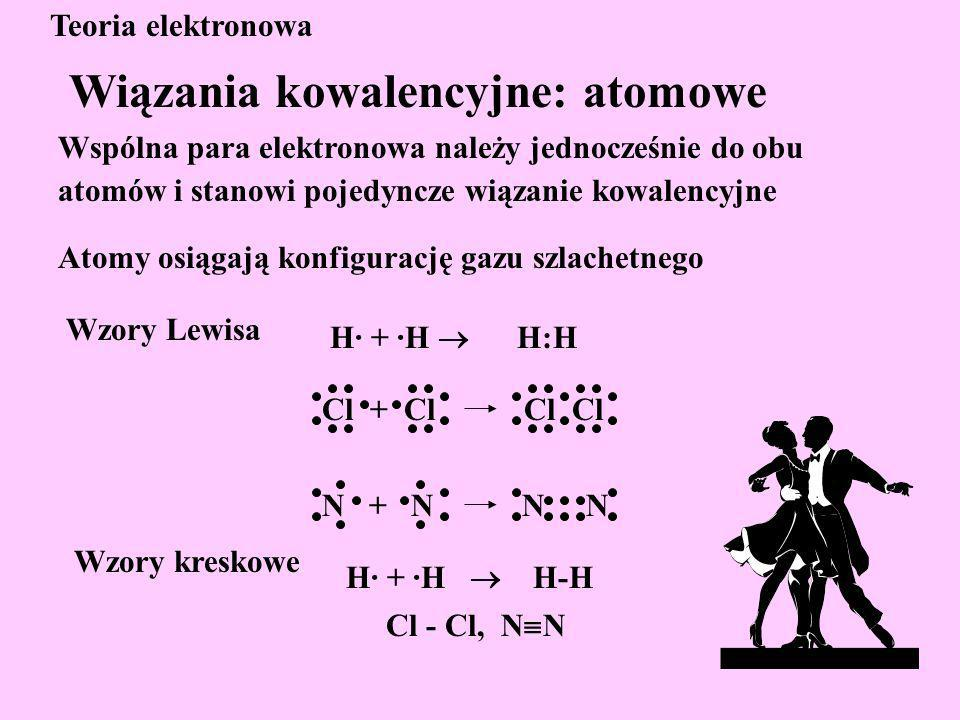 Wspólna para elektronowa należy jednocześnie do obu atomów, ale w różnym stopniu.