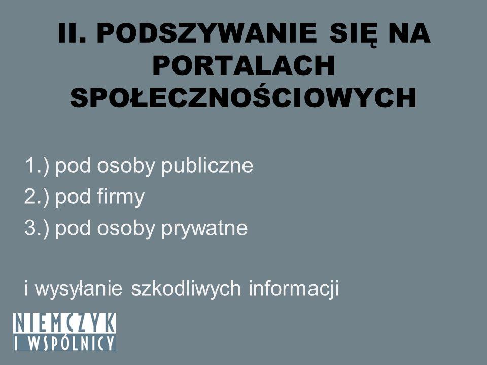 ZAGROŻENIA W SIECI PRZECIWDZIAŁANIE – c.d.