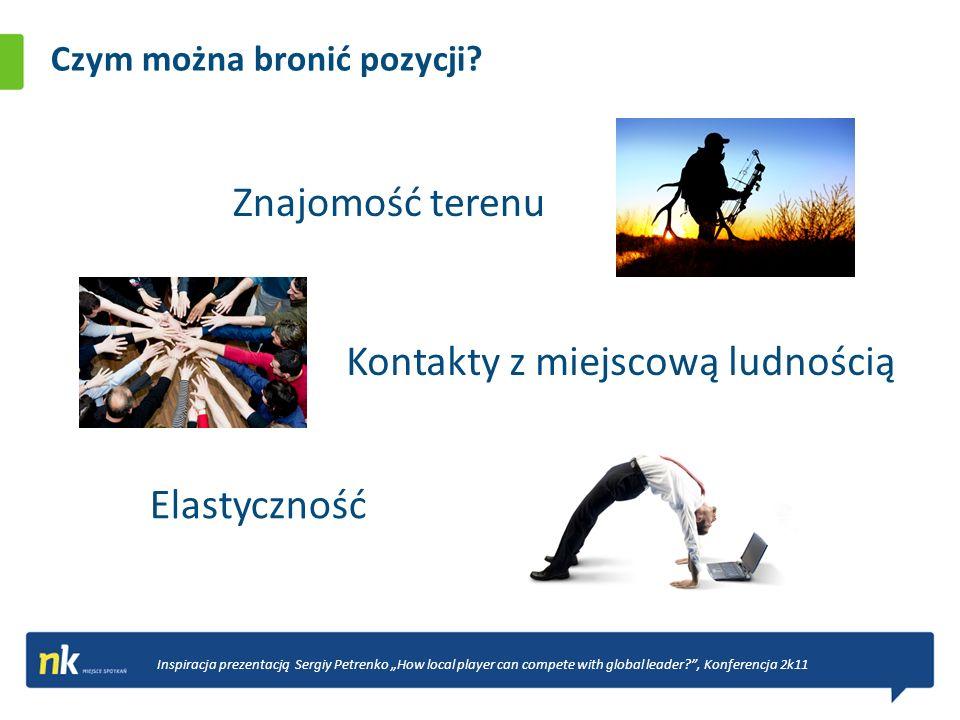 Czym można bronić pozycji? Znajomość terenu Inspiracja prezentacją Sergiy Petrenko How local player can compete with global leader?, Konferencja 2k11