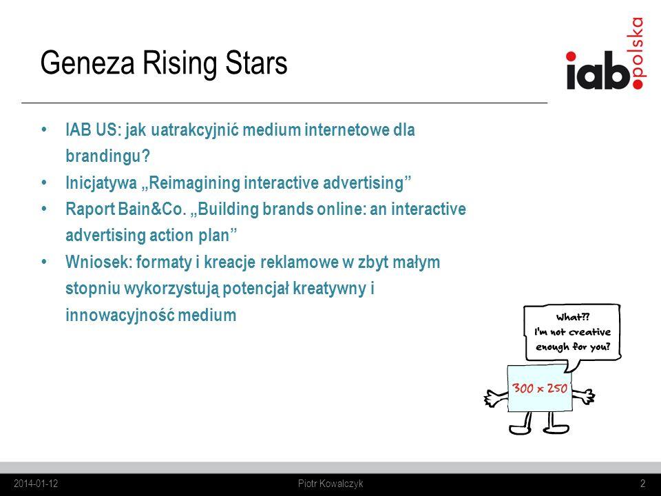 2 IAB US: jak uatrakcyjnić medium internetowe dla brandingu? Inicjatywa Reimagining interactive advertising Raport Bain&Co. Building brands online: an