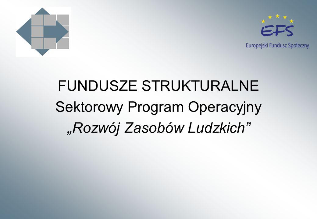 FUNDUSZE STRUKTURALNE Sektorowy Program Operacyjny Rozwój Zasobów Ludzkich