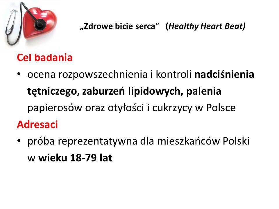 Cel badania ocena rozpowszechnienia i kontroli nadciśnienia tętniczego, zaburzeń lipidowych, palenia papierosów oraz otyłości i cukrzycy w Polsce Adre