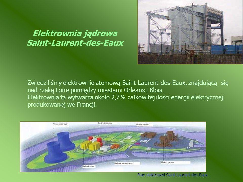Elektrownia jądrowa Saint-Laurent-des-Eaux Zwiedziliśmy elektrownię atomową Saint-Laurent-des-Eaux, znajdującą się nad rzeką Loire pomiędzy miastami O