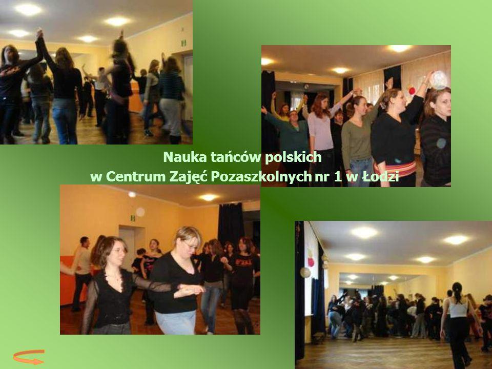 Nauka tańców polskich w Centrum Zajęć Pozaszkolnych nr 1 w Łodzi