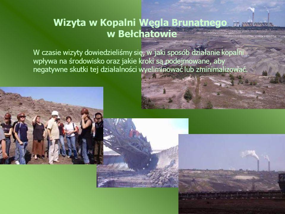 W czasie wizyty dowiedzieliśmy się, w jaki sposób działanie kopalni wpływa na środowisko oraz jakie kroki są podejmowane, aby negatywne skutki tej dzi
