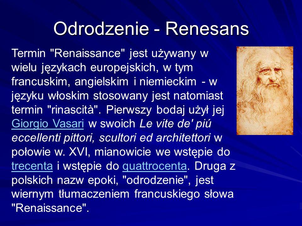 Odrodzenie - Renesans Termin