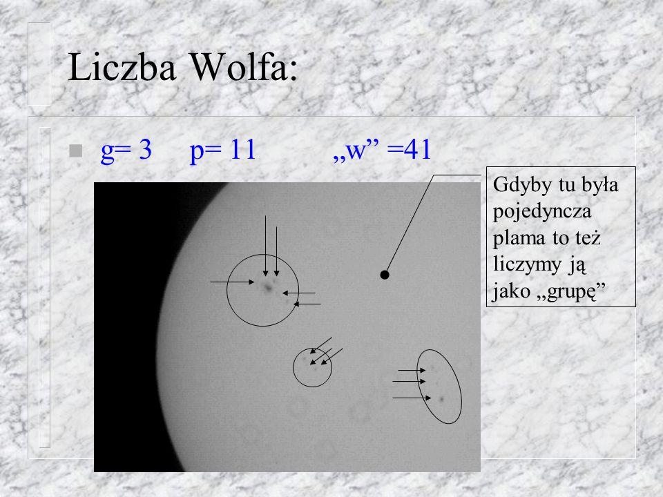 Co badamy: n Aktywność: (Liczba Wolfa: w=10g+p) n Rotacja Słońca n Wykres motylkowy