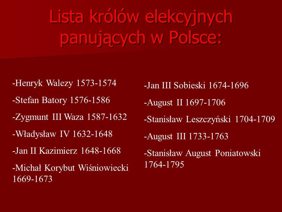 WOLNA ELEKCJA Wolna elekcja - jest to wybór monarchy nieograniczony względami na dynastię (w Polsce od 1572). Na elekcji szlachta głosowała województw
