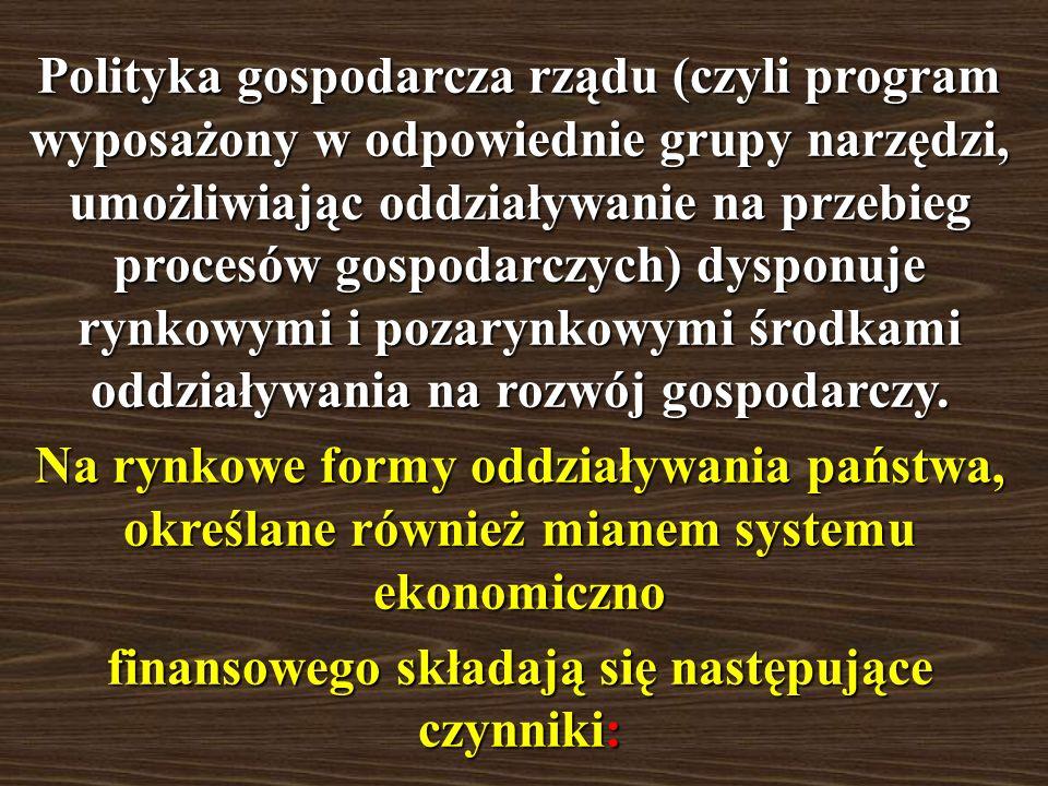 Do zadań realizowanych przez państwo w sferze gospodarczej należy: >opracowanie podstaw prawnych, dotyczących reguł postępowania wszystkich uczestnikó