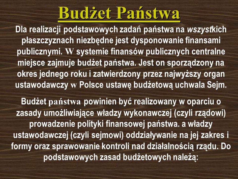 Rola państwa w gospodarce polskiej W Polsce mamy do czynienia z powolnym, ale systematycznym ograniczaniem roli władz centralnych i przekazywaniem ich