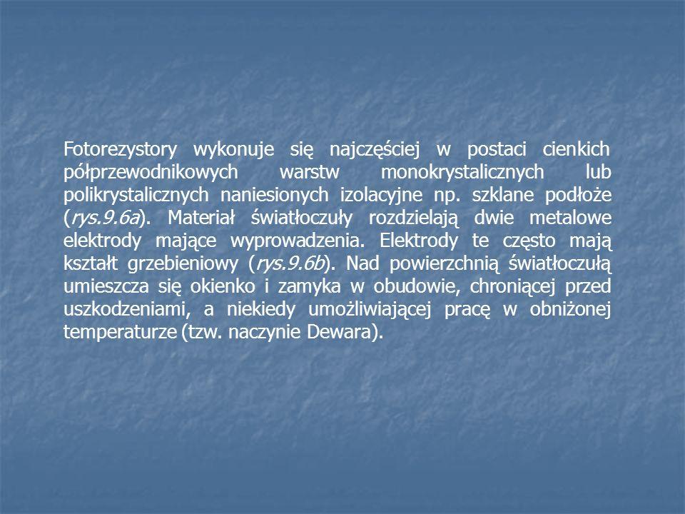 Fotorezystory wykonuje się najczęściej w postaci cienkich półprzewodnikowych warstw monokrystalicznych lub polikrystalicznych naniesionych izolacyjne