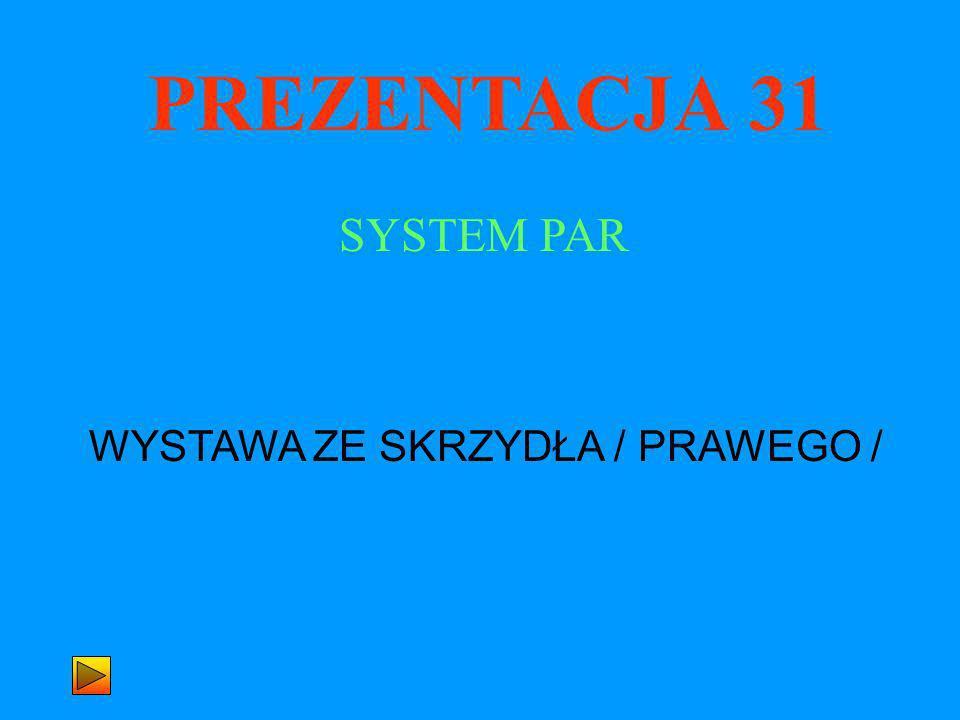 PREZENTACJA 31 WYSTAWA ZE SKRZYDŁA / PRAWEGO / SYSTEM PAR