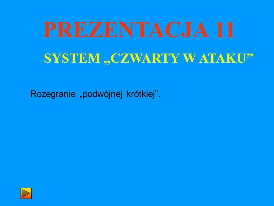 PREZENTACJA 11 SYSTEM CZWARTY W ATAKU Rozegranie podwójnej krótkiej.