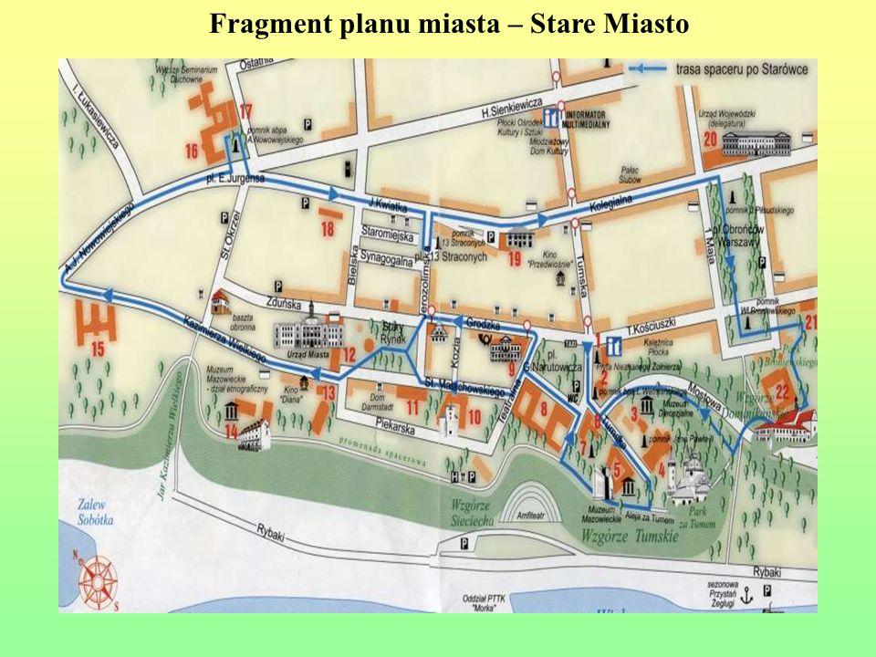 Fragment planu miasta – Stare Miasto