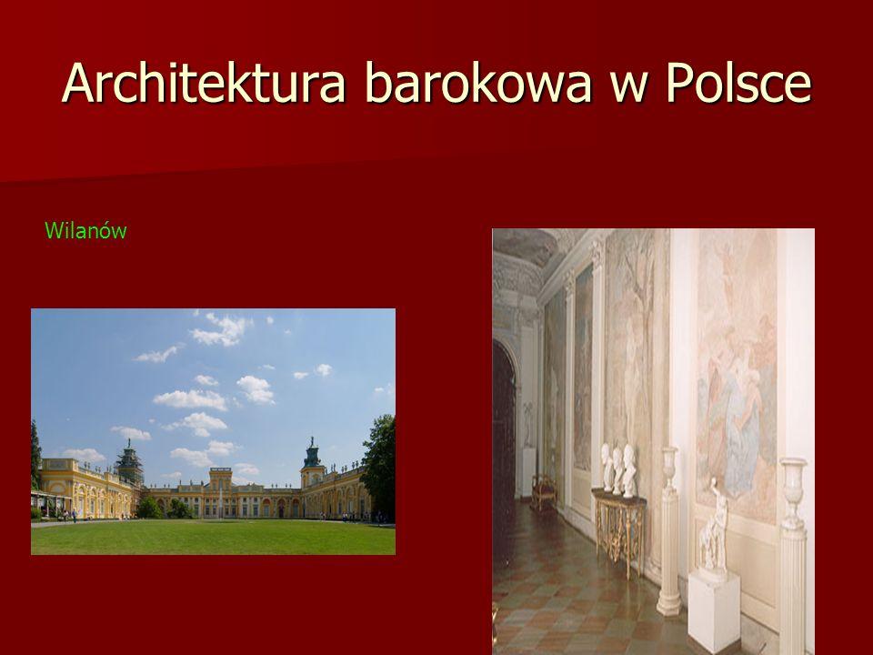 Architektura barokowa w Polsce Wilanów