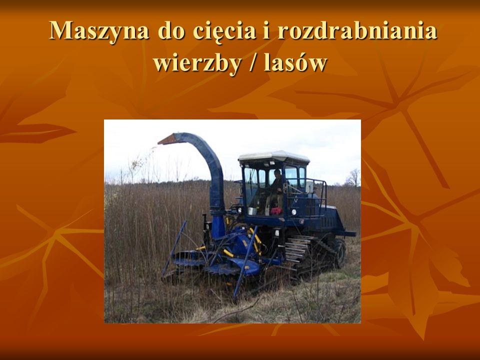 Maszyna do cięcia i rozdrabniania wierzby / lasów Maszyna do cięcia i rozdrabniania wierzby / lasów