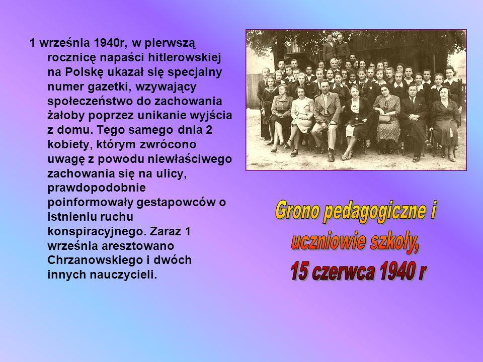 1 września 1940r, w pierwszą rocznicę napaści hitlerowskiej na Polskę ukazał się specjalny numer gazetki, wzywający społeczeństwo do zachowania żałoby
